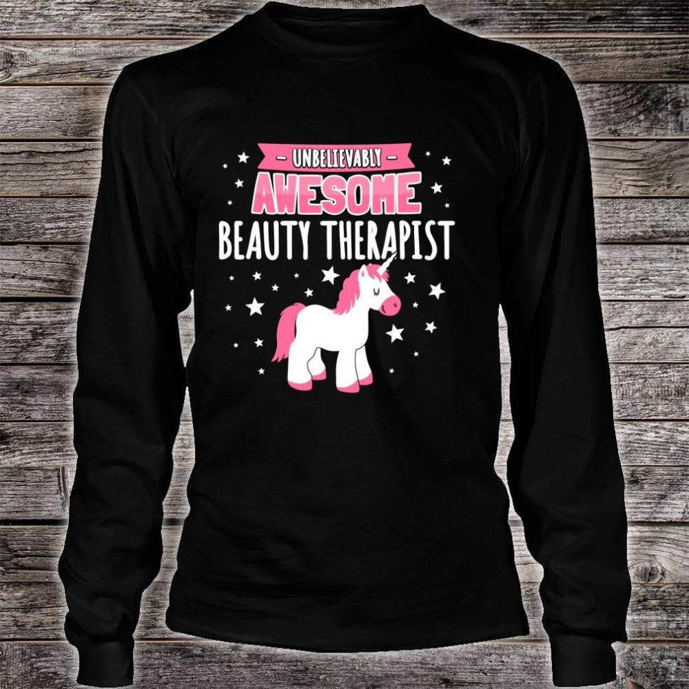 Beauty Therapist Shirt long sleeved