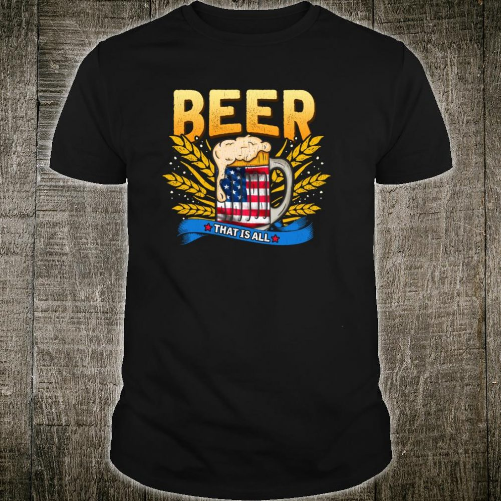 Beer and American Flag for pints at the pub or party Shirt