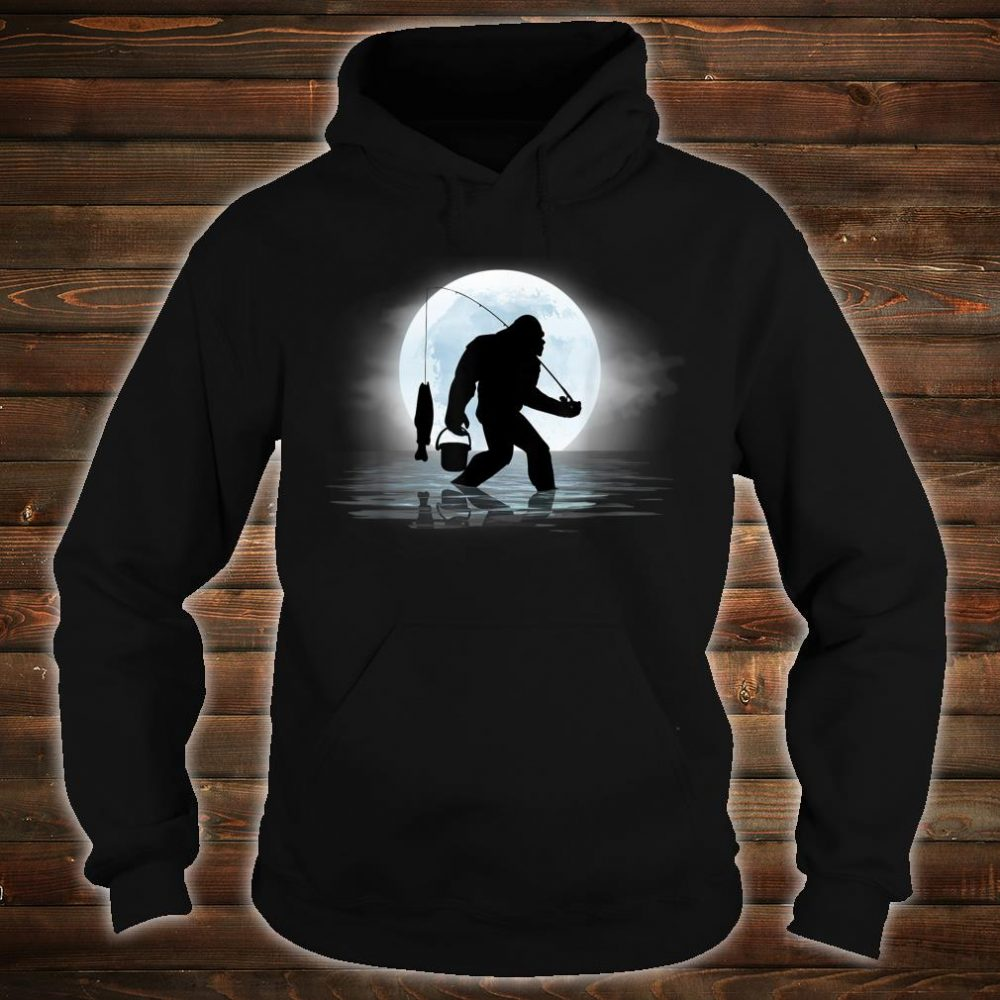 Bigfoot Fishing Shirt Sasquatch and Fish Night Fishing Shirt hoodie