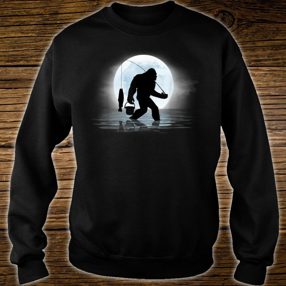 Bigfoot Fishing Shirt Sasquatch and Fish Night Fishing Shirt sweater