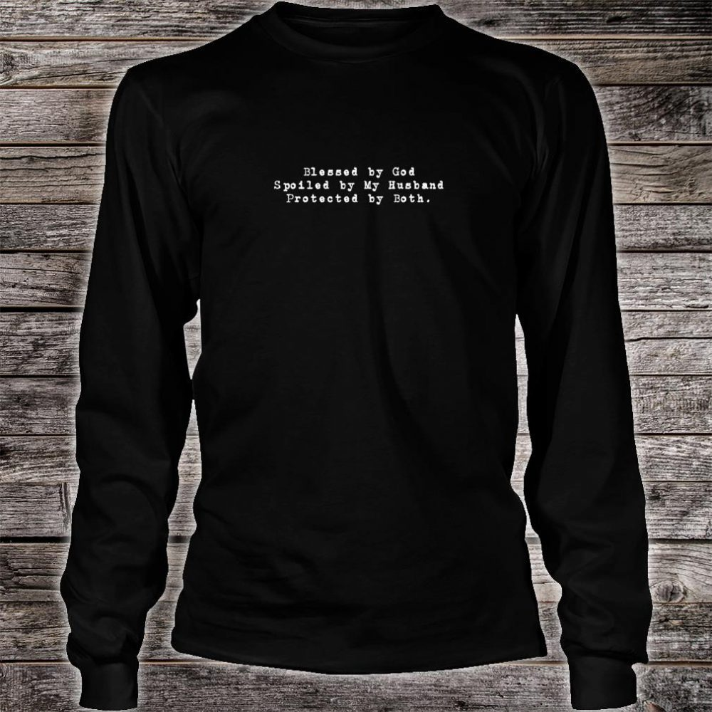 Blessed By God Christian Christmas Ideas Shirt long sleeved