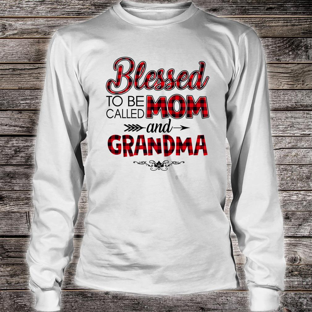 Blessed To Be Called Mom And Grandma Caro Christmas Shirt long sleeved