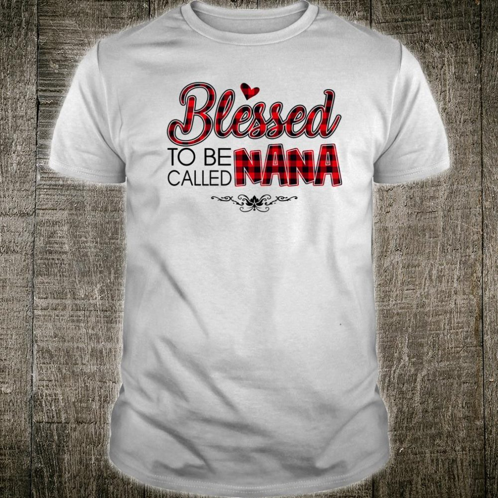 Blessed To Be Called Nana Caro Christmas Mother Day Shirt