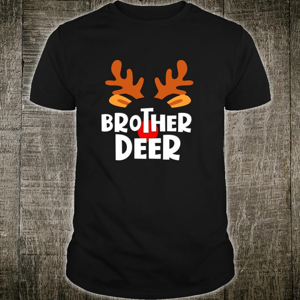 Brother Deer Matching Family Tribe Christmas Reindeer Shirt