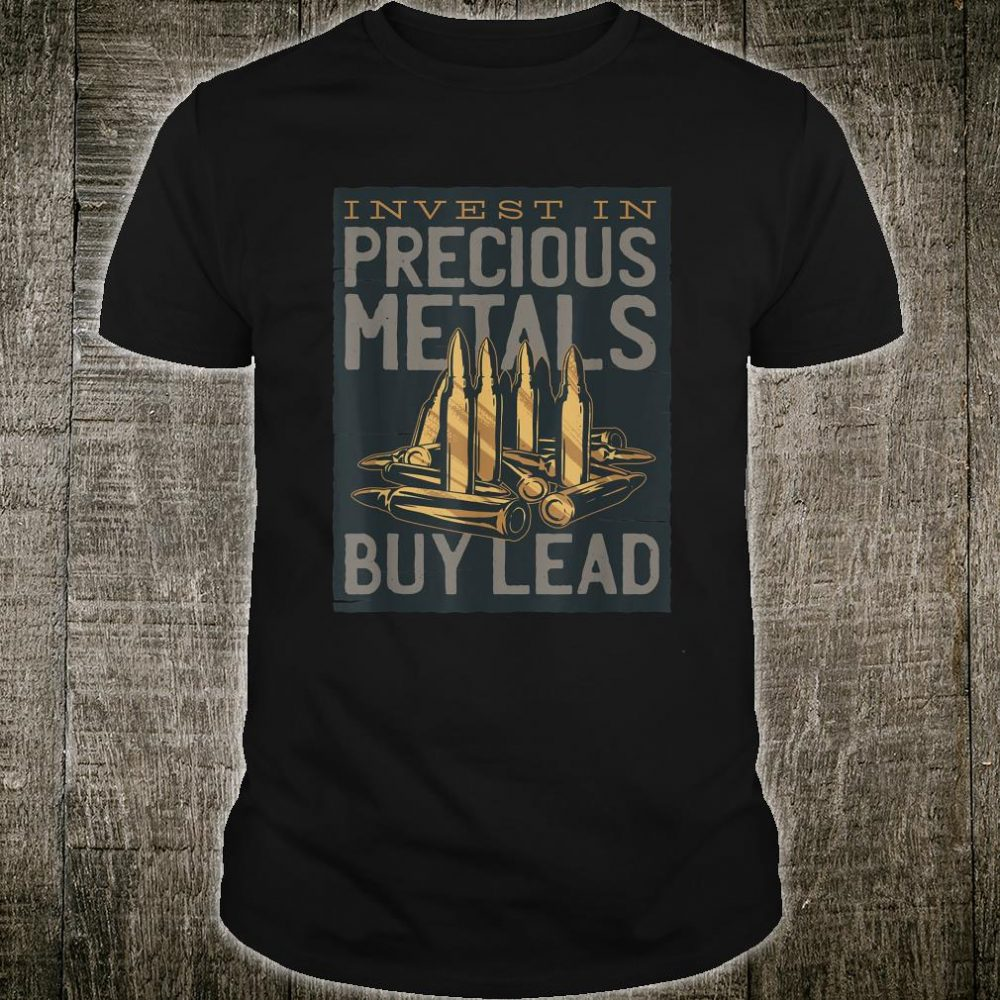 Bullet Lettering Quote Invest & Lead Shirt
