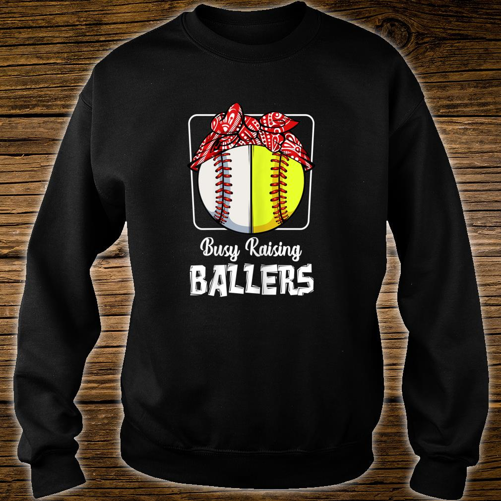 Busy Raising Ballers Softball Baseball Mom Sport Shirt sweater