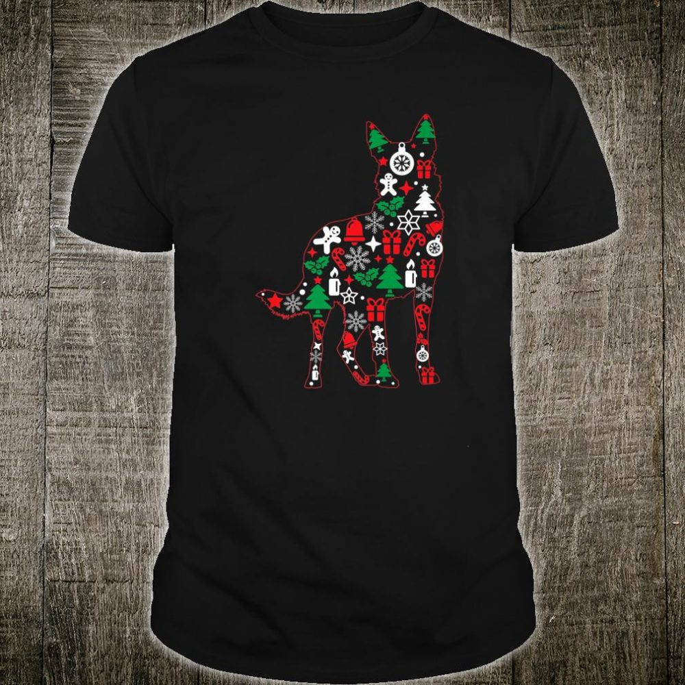 Christmas German Shepherd Puppy Cute Dog Shirt