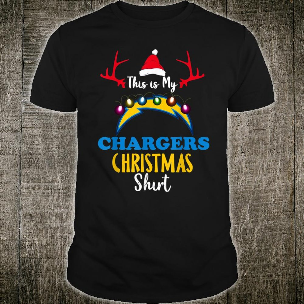 Christmas This Is My Team Football LosAngelesCharger Fan Shirt