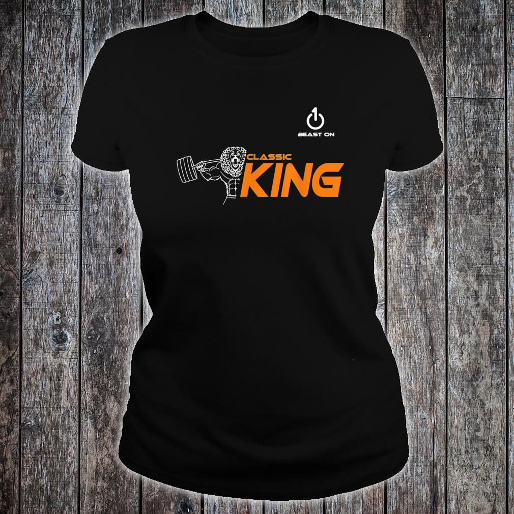 Classic King Lion Fitness Gym Krafttraining sport muscle Shirt ladies tee