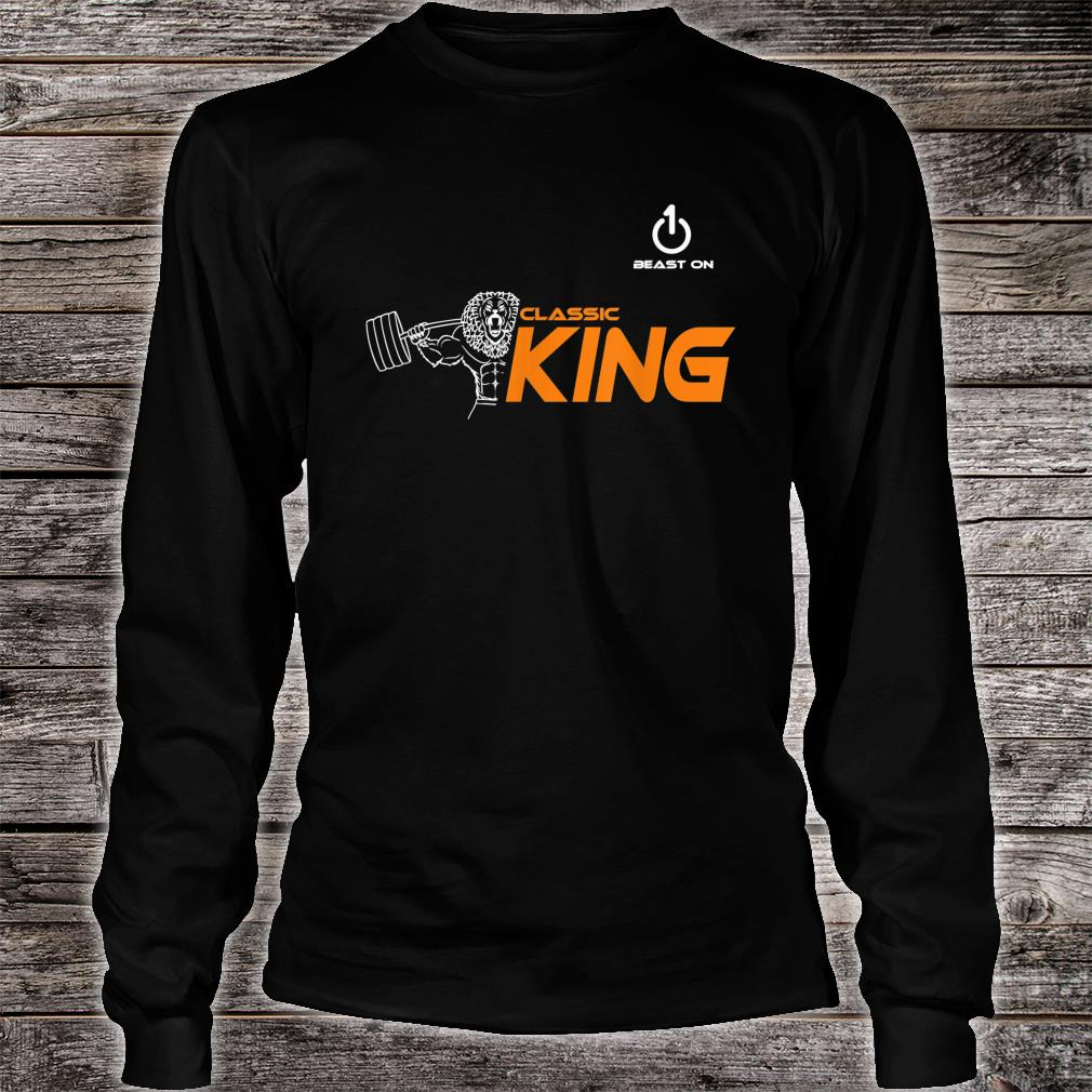 Classic King Lion Fitness Gym Krafttraining sport muscle Shirt long sleeved