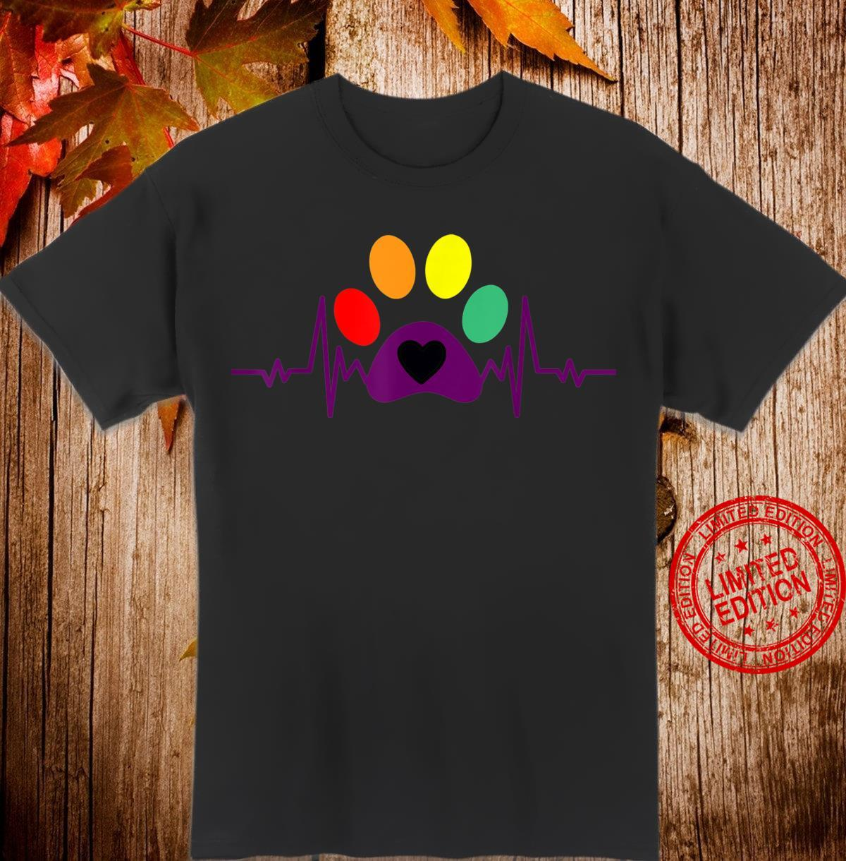 Colorful Dog heartbeats for dogs Shirt