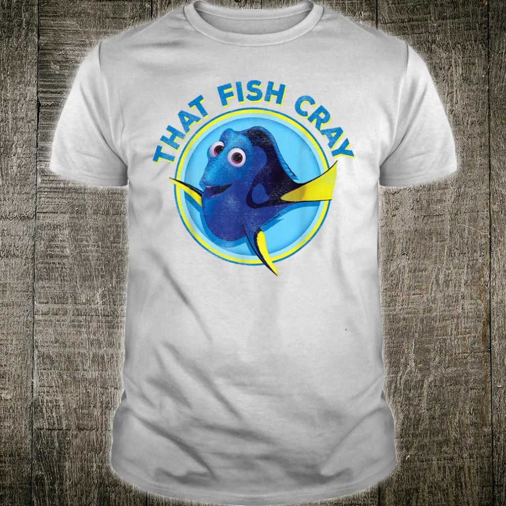 Disney Pixar Finding Dory Fish Cray Circle Shirt