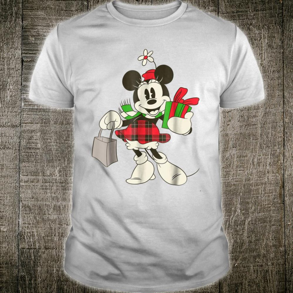 Disney Vintage Minnie Mouse Retro Holiday Shirt