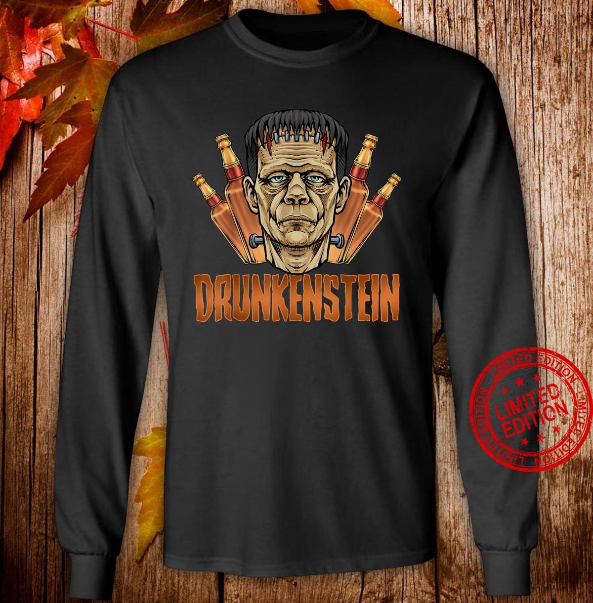 Drunkenstein Halloween Frankenstein Monster Shirt long sleeved