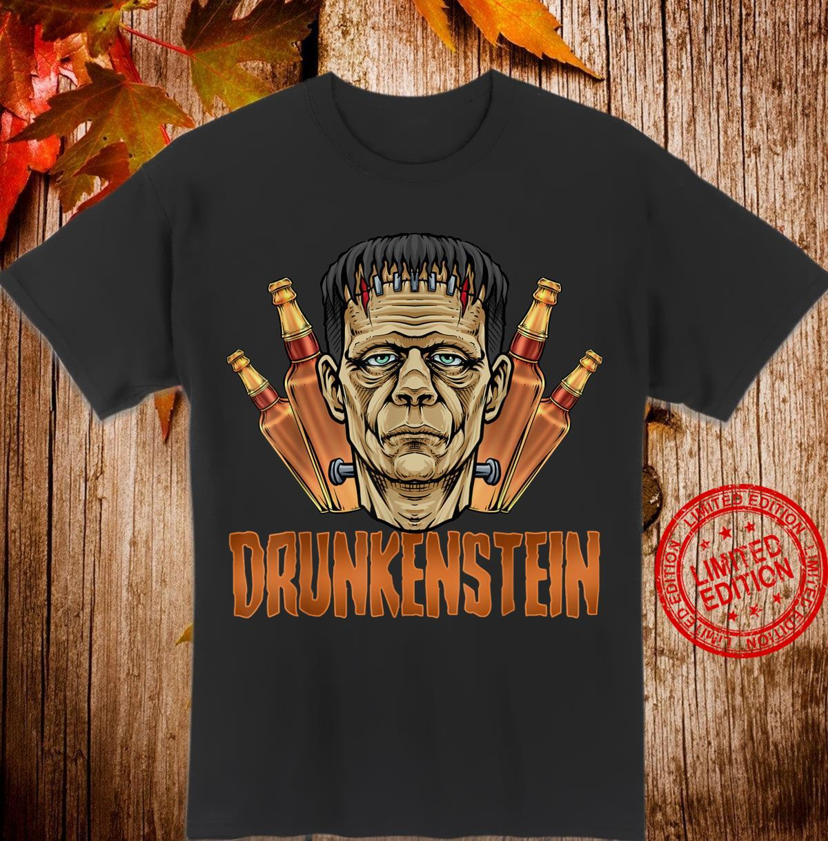 Drunkenstein Halloween Frankenstein Monster Shirt