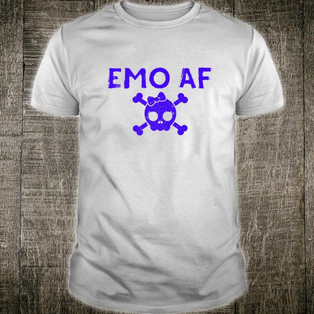 Emo AF Emotional Black Goth Punk Rock Music Shirt