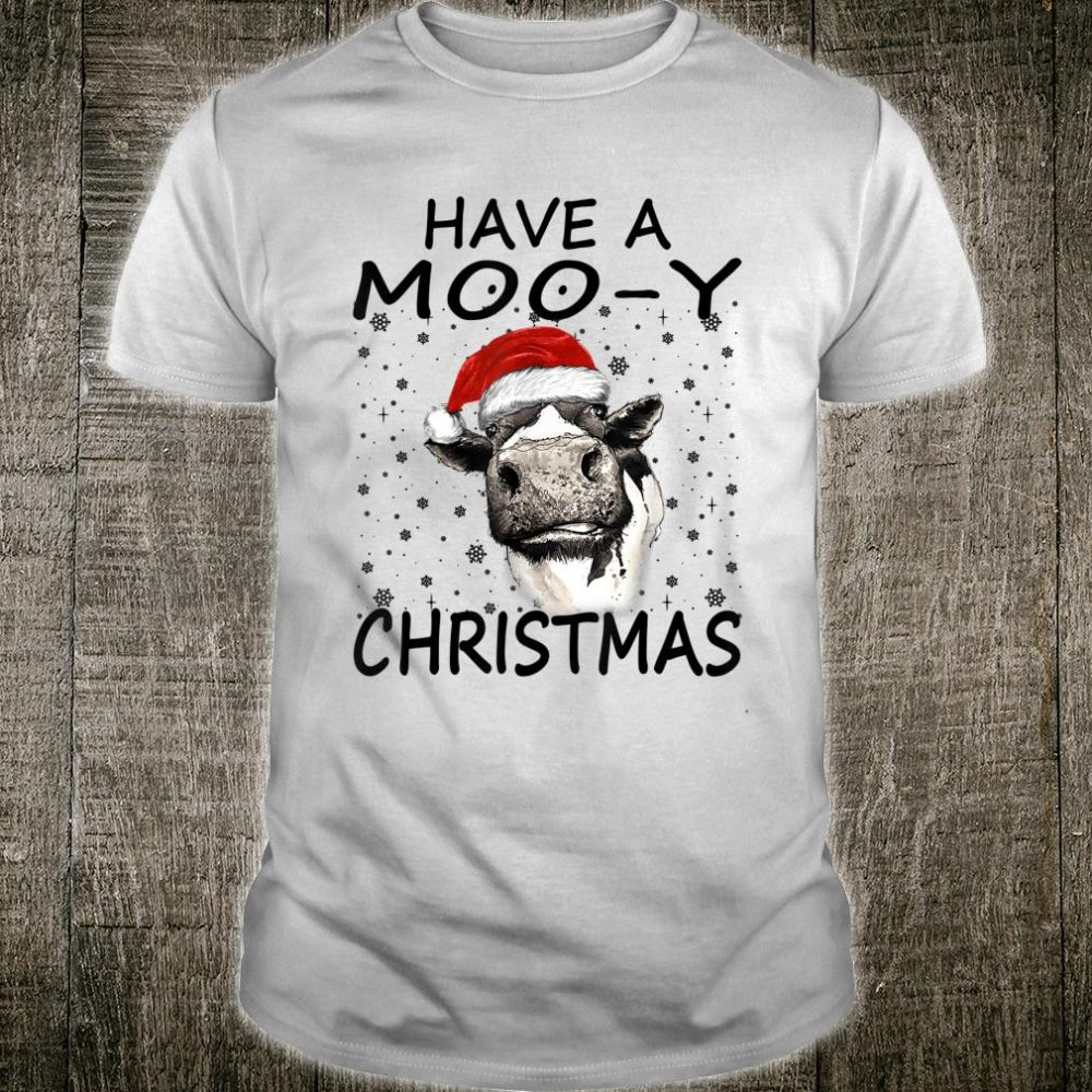 Farm Cow Have A MooY Christmas Shirt