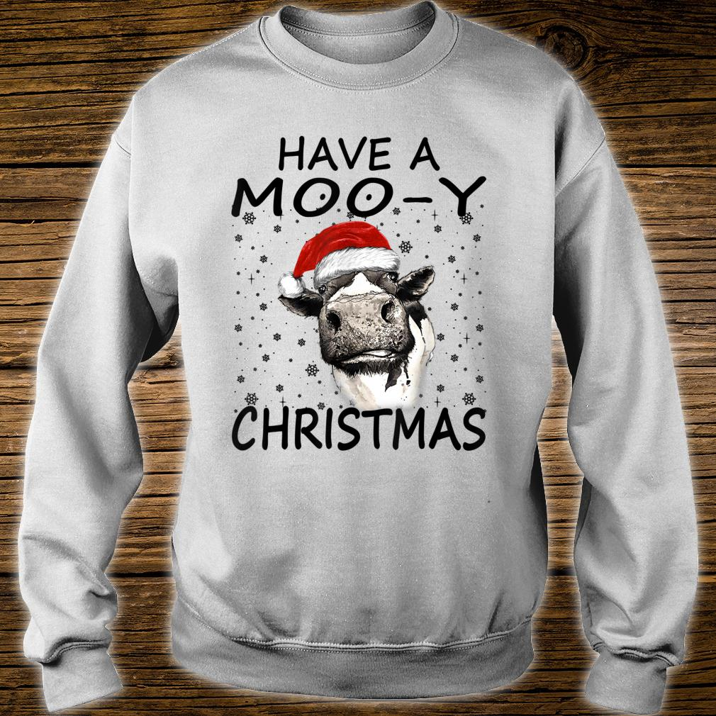 Farm Cow Have A MooY Christmas Shirt sweater