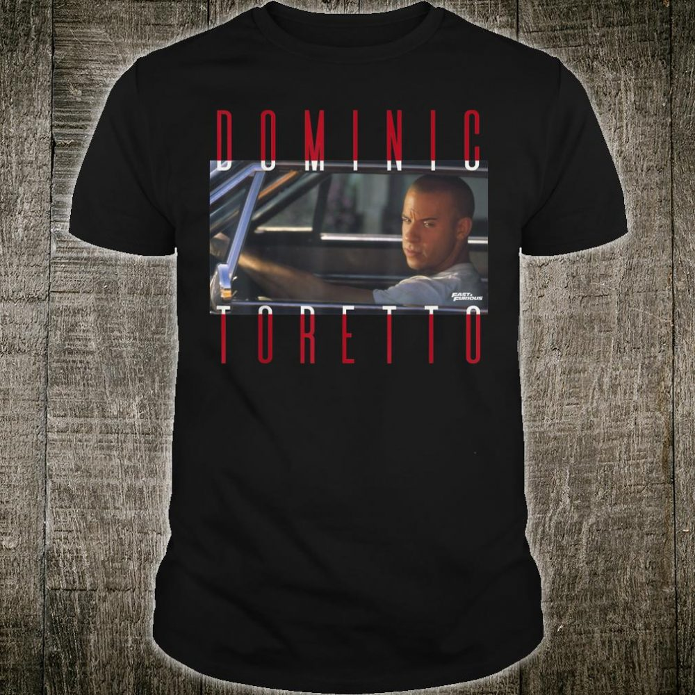 Fast & Furious Dominic Toretto Photo Word Stack Shirt