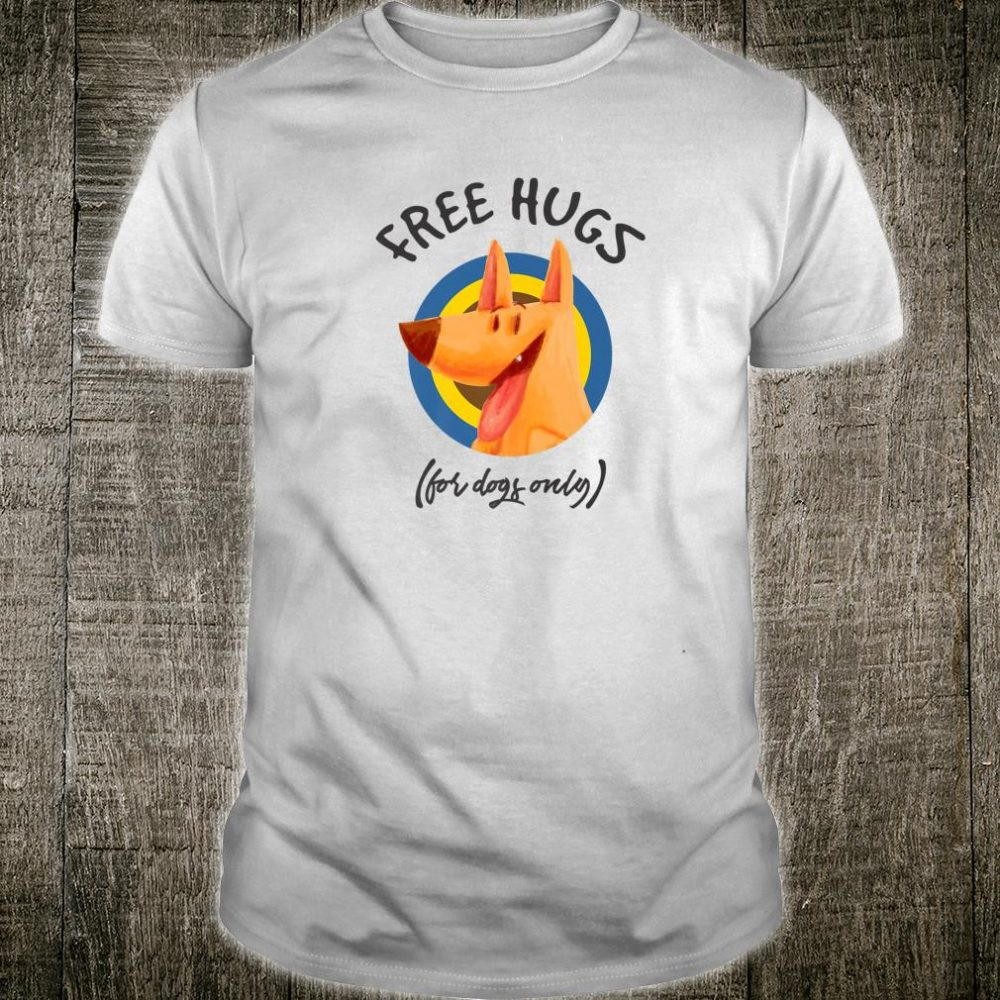Free Hugs For Dogs Only Best Dog Christmas Shirt