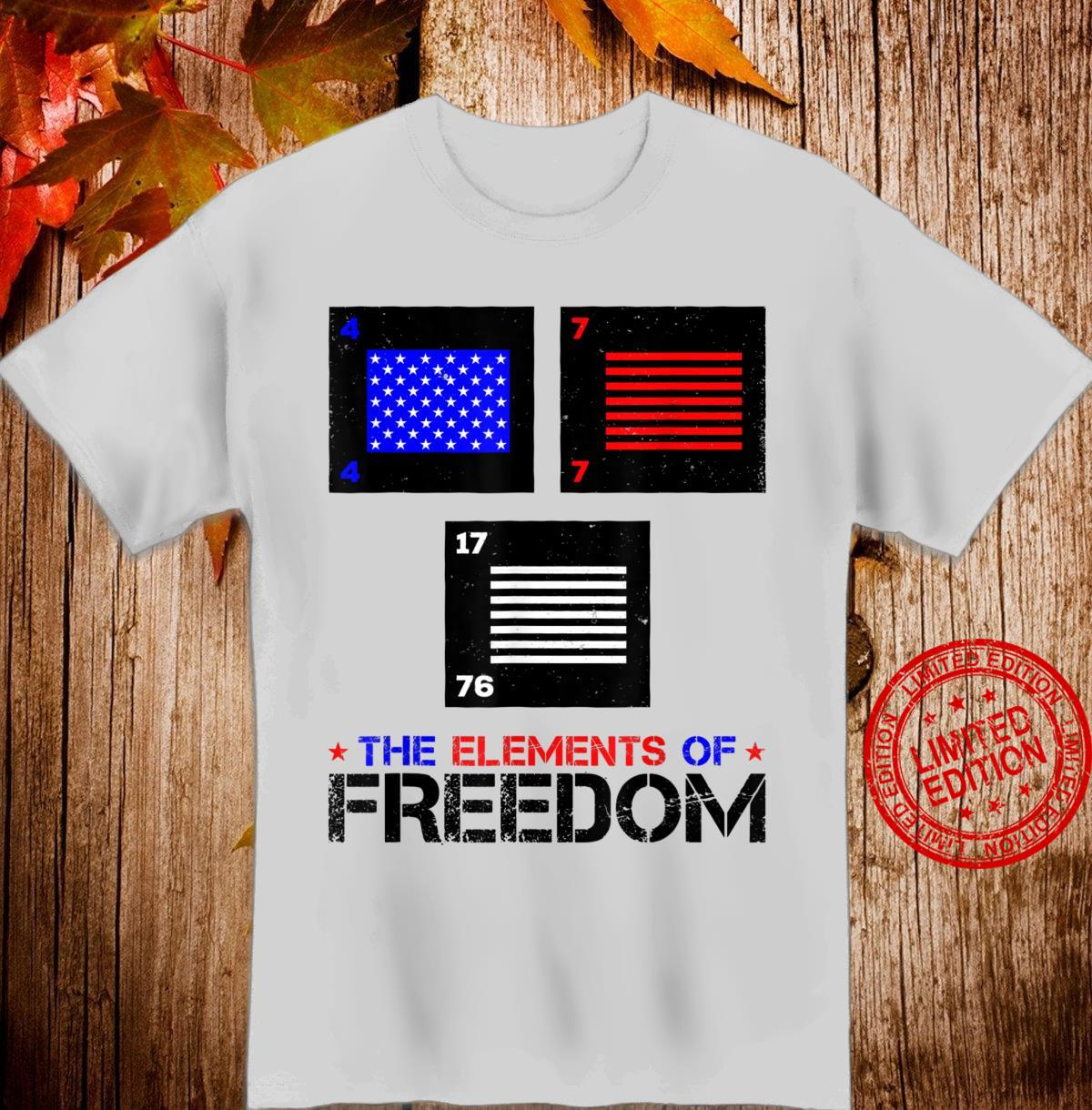 Freedom Elements of Patriotism United States of America Flag Shirt
