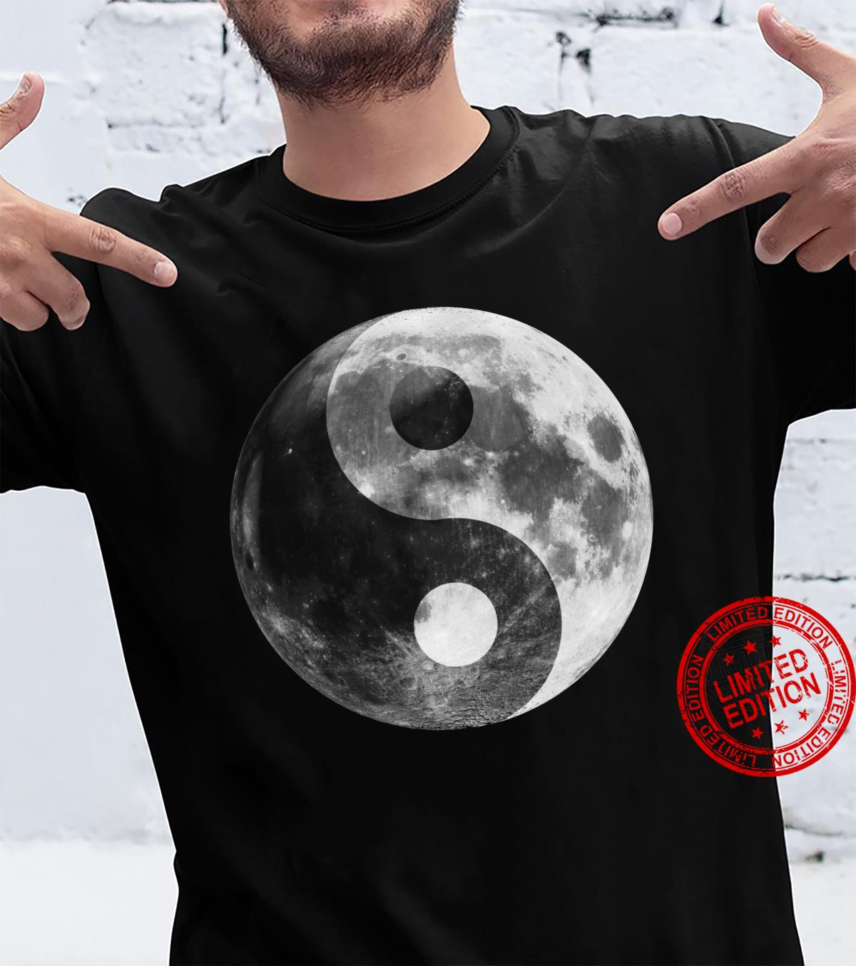 Full Moon, Ying Yang Full Luna Yin Yang Moon Zen Moon Shirt