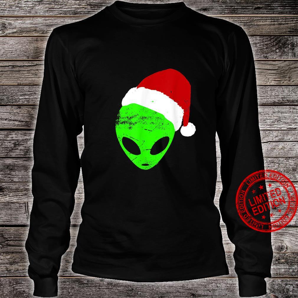 Funny Christmas Holiday Humor Alien Santa Claus Shirt long sleeved