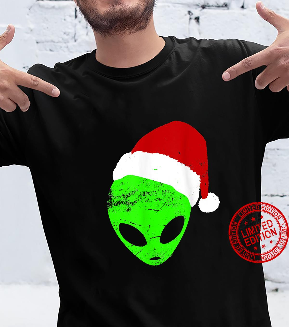 Funny Christmas Holiday Humor Alien Santa Claus Shirt