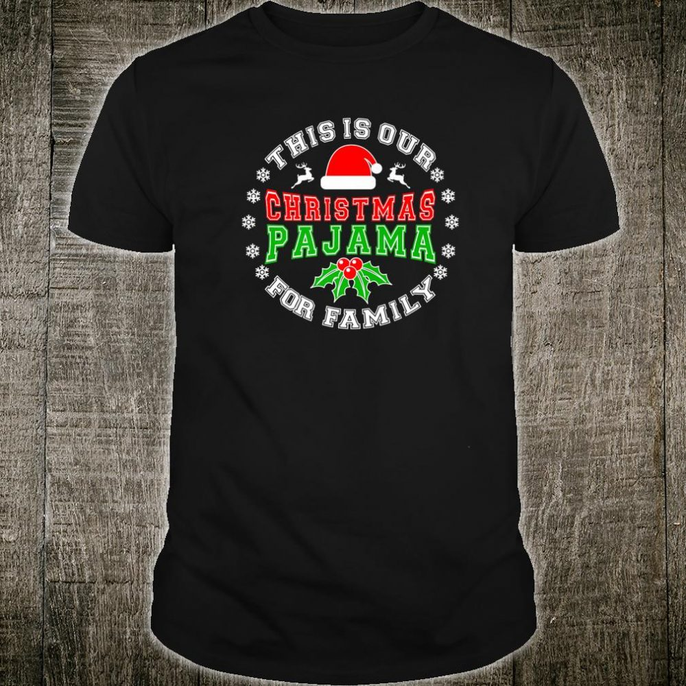Funny Christmas Pajama for Family Short Sleeve Xmas Shirt