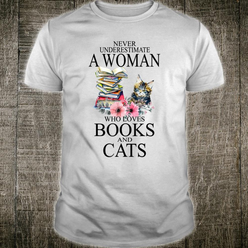 Funny Reading Cats Book Nerds Geeks Shirt