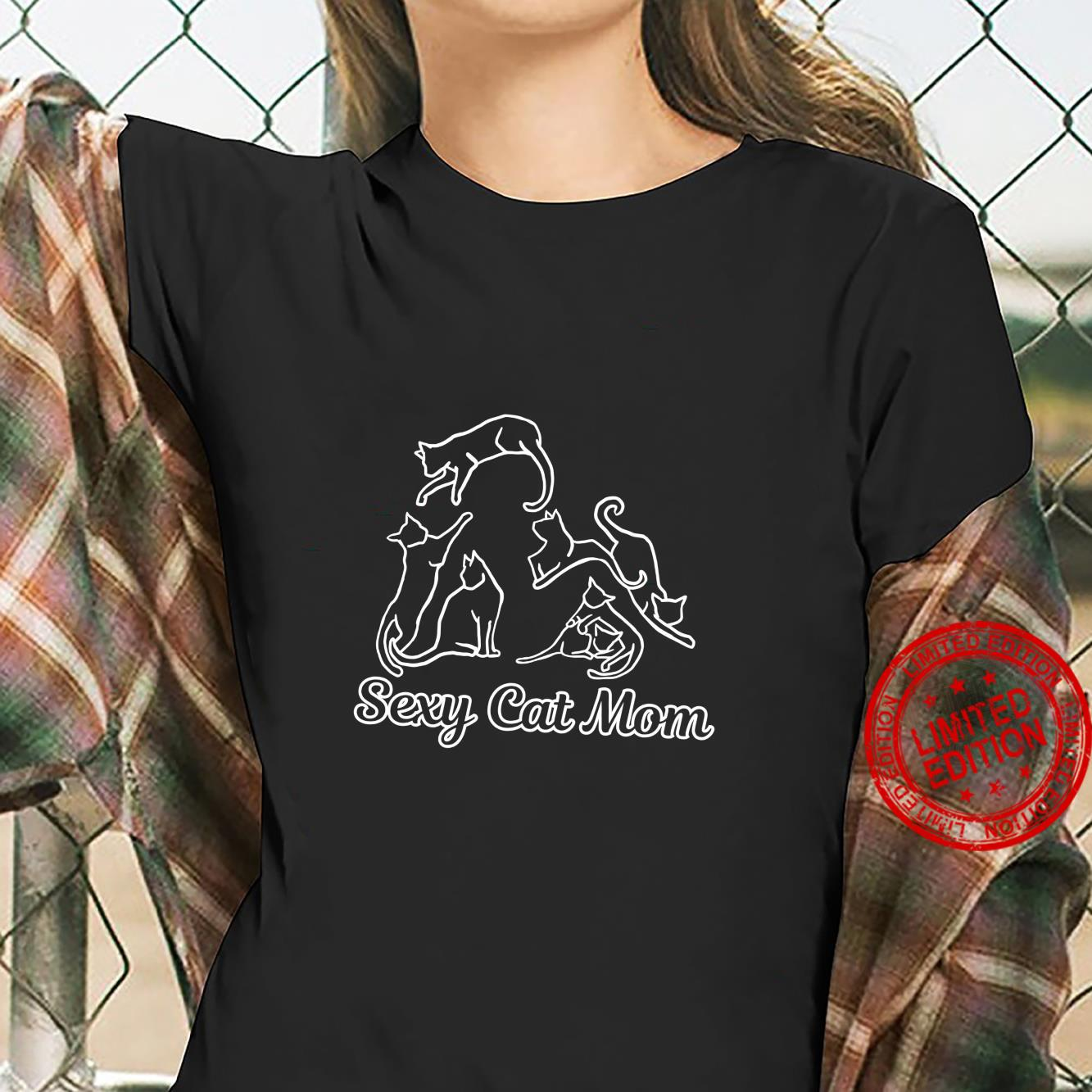 Funny Sexy Crazy Cat Lady Cute for Cats Best Mom Langarmshirt Shirt ladies tee