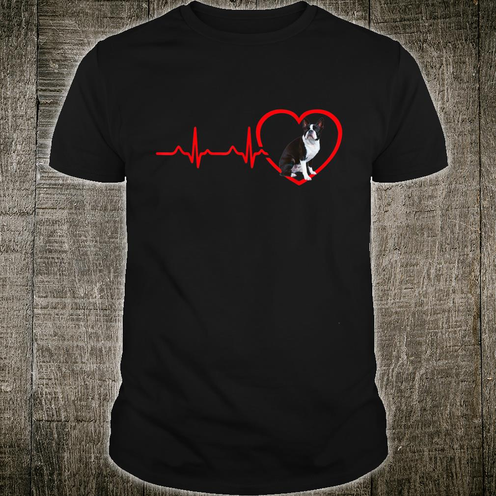 Funny Valentines Boston Terrier Heart Dogs Shirt