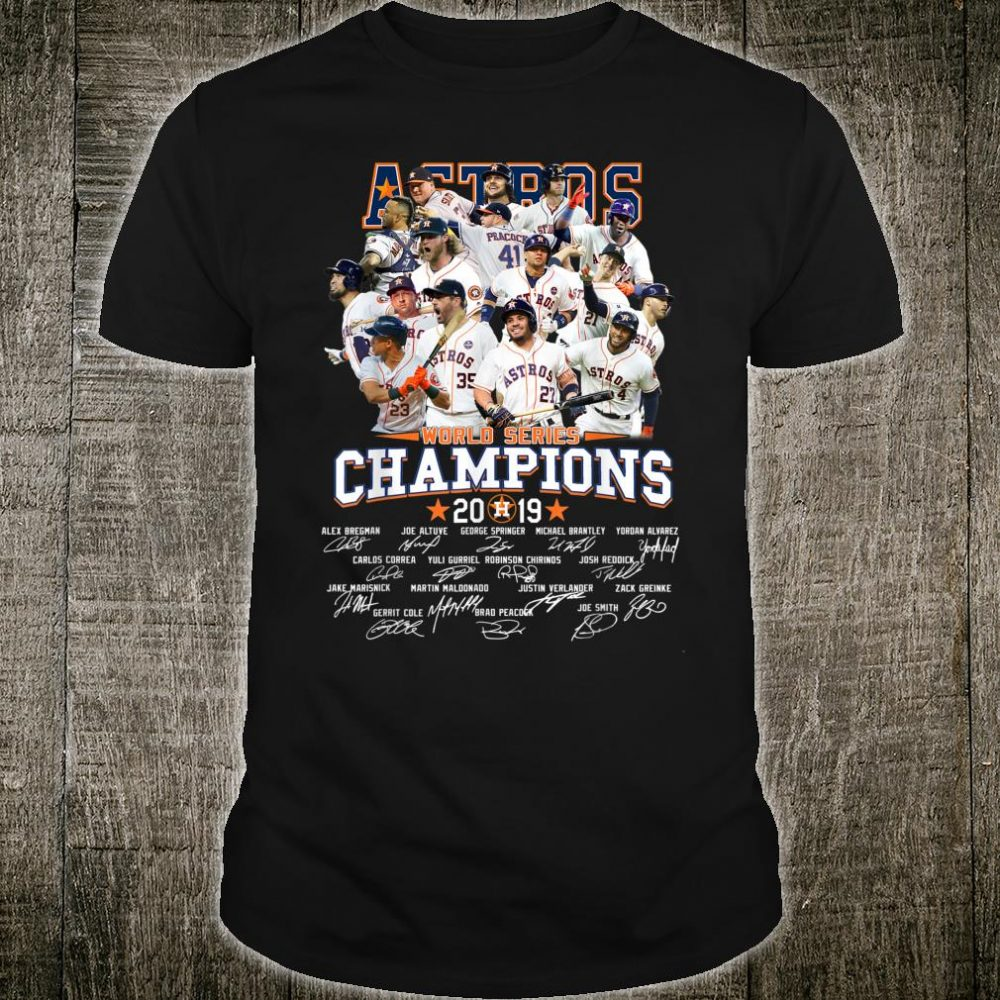 GraphicAstrosAmericanBaseballLeague2019Champion Shirt