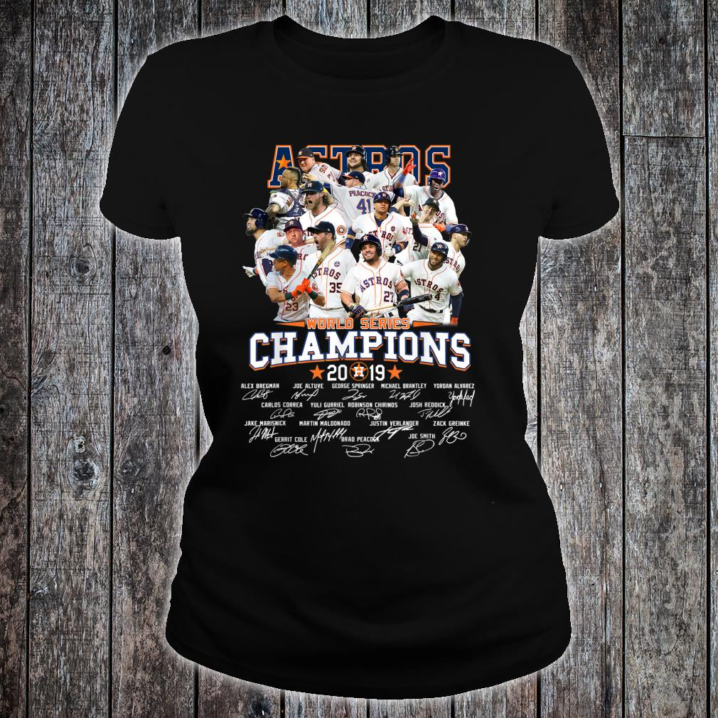 GraphicAstrosAmericanBaseballLeague2019Champion Shirt ladies tee
