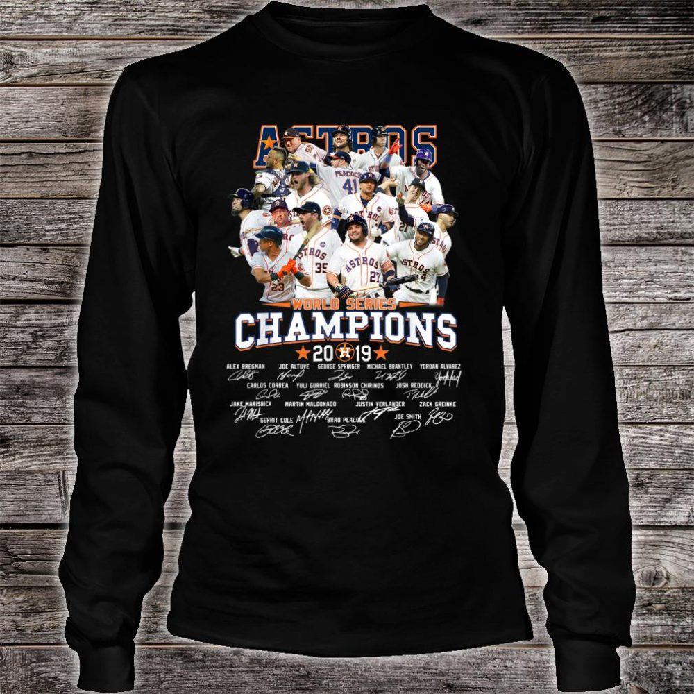 GraphicAstrosAmericanBaseballLeague2019Champion Shirt long sleeved