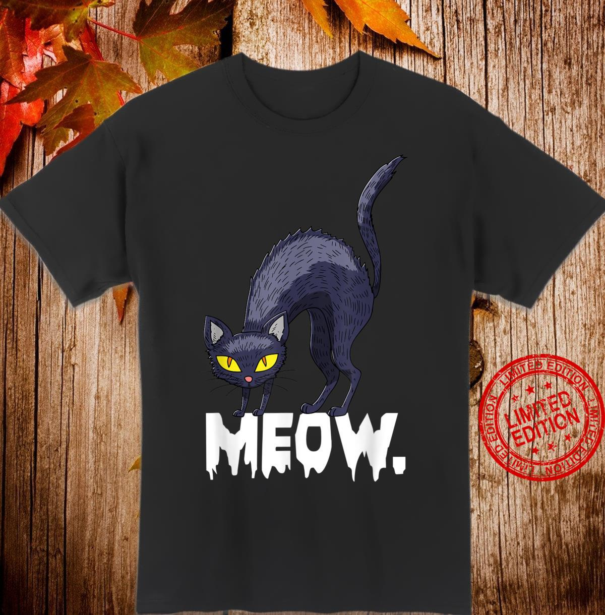 Halloween Witch Costume Meow Shirt