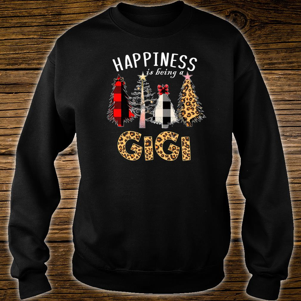 Happiness Is Being Gigi Christmas Leopard Plaid Tree Shirt sweater