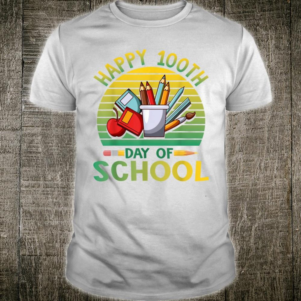 Happy 100th Day of School Girls Students Shirt