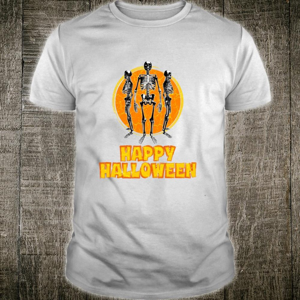 Happy Halloween Scary Skeletons Shirt