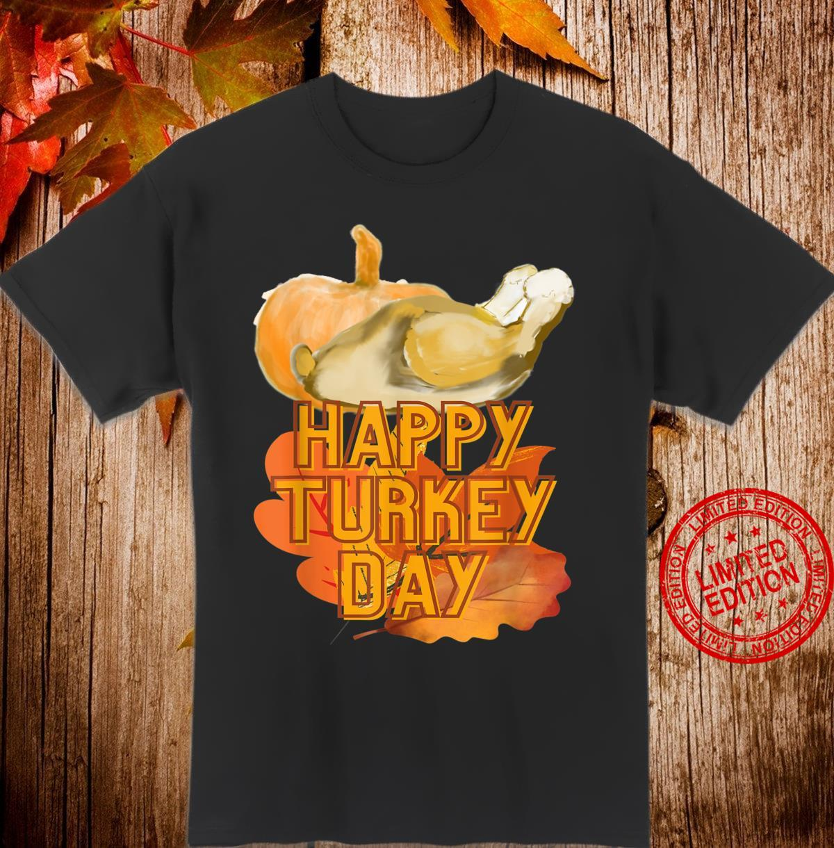 Happy Turkey Day Pumpkin Holiday Shirt