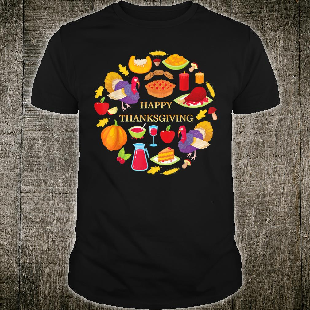 Happy thanksgiving day food night for family fun Shirt