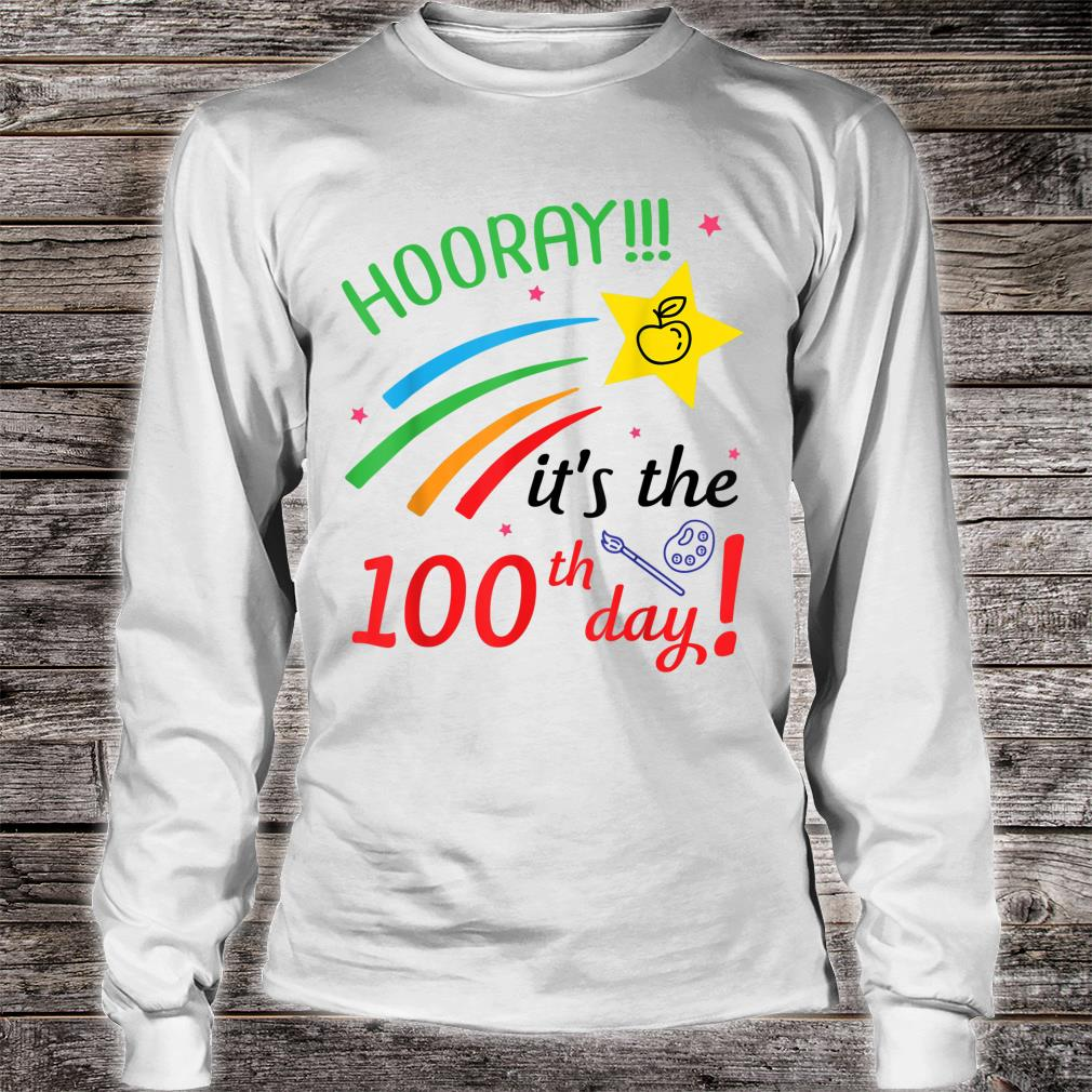 Hooray It's The 100th Day Of School Happy Teachers Students Shirt long sleeved