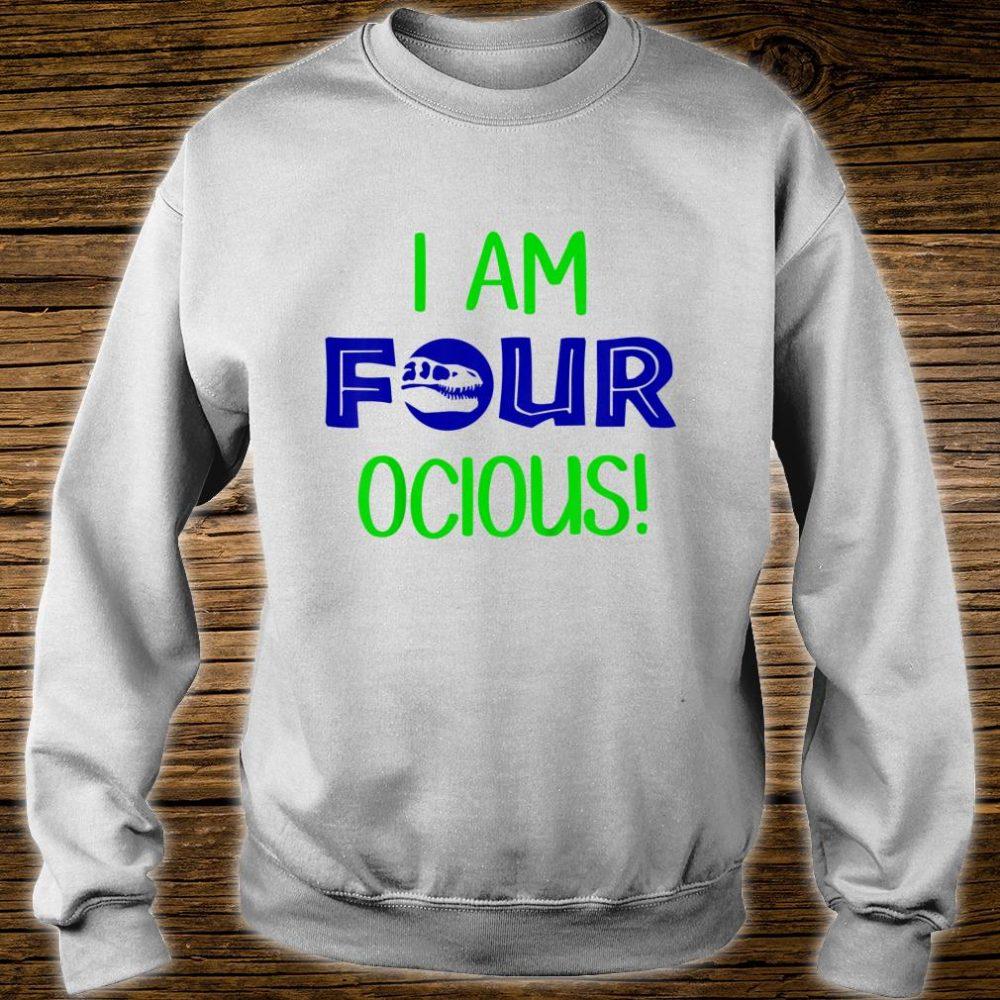 I Am Four ocious Dino Shirt sweater