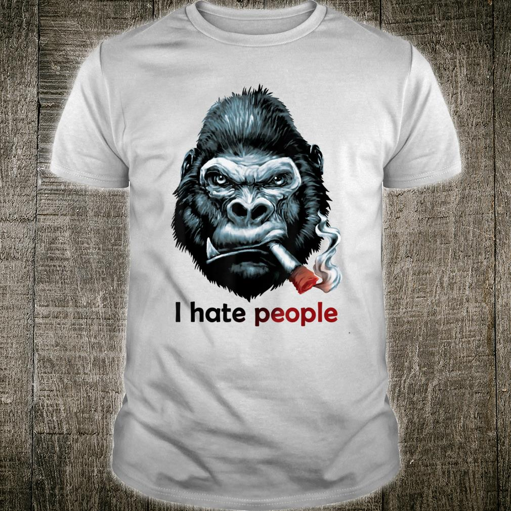 I Hate People Love Bear And Smoke Shirt