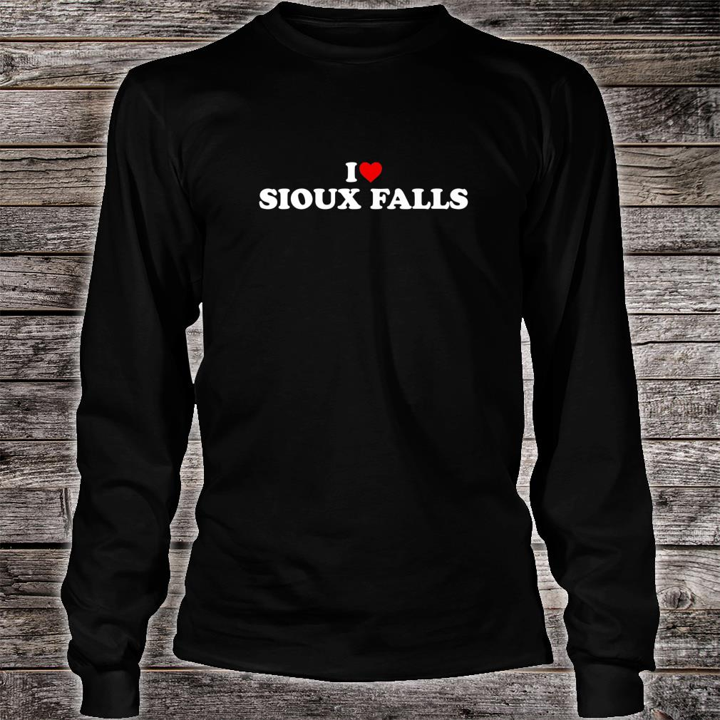 I Love Sioux Falls Heart Shirt long sleeved