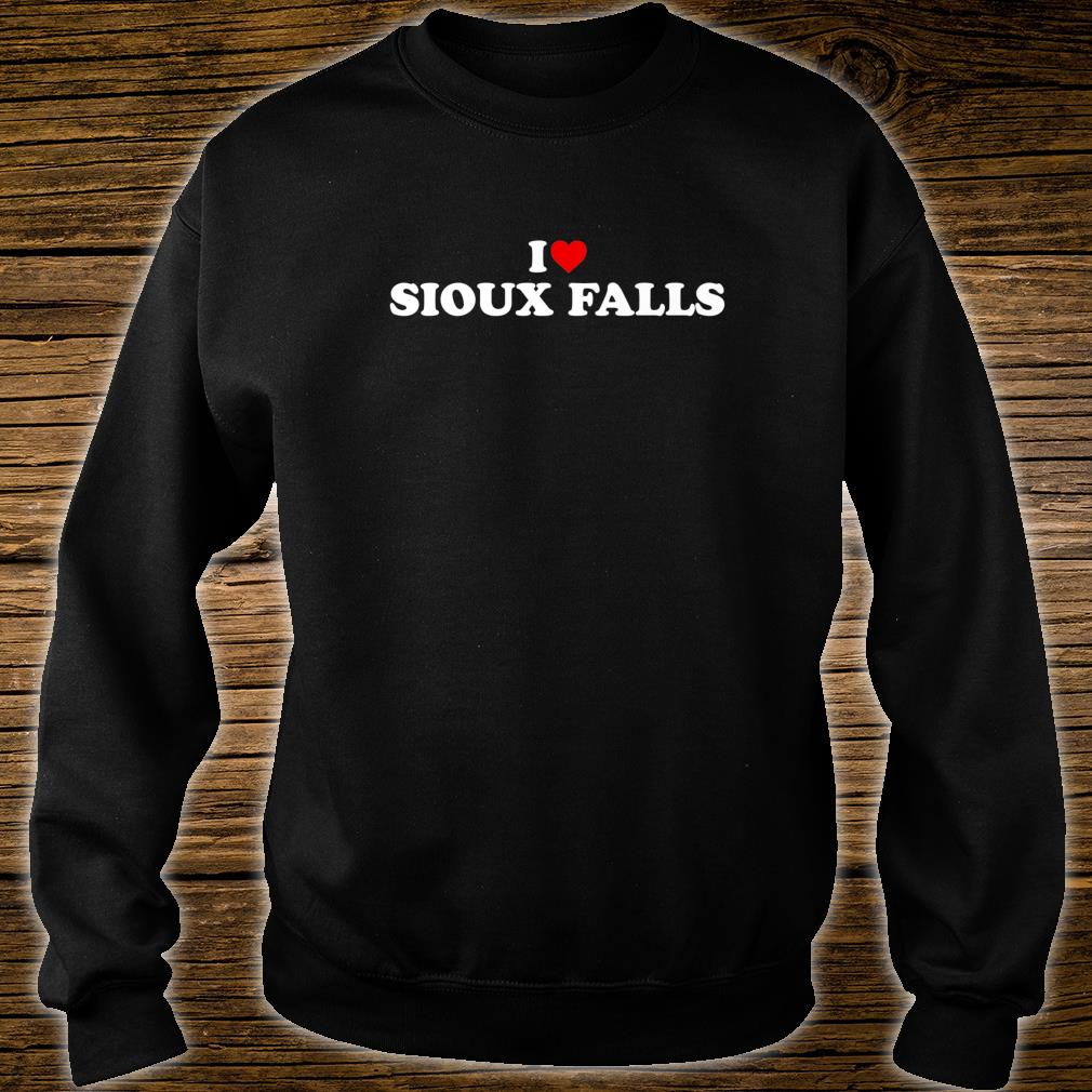 I Love Sioux Falls Heart Shirt sweater