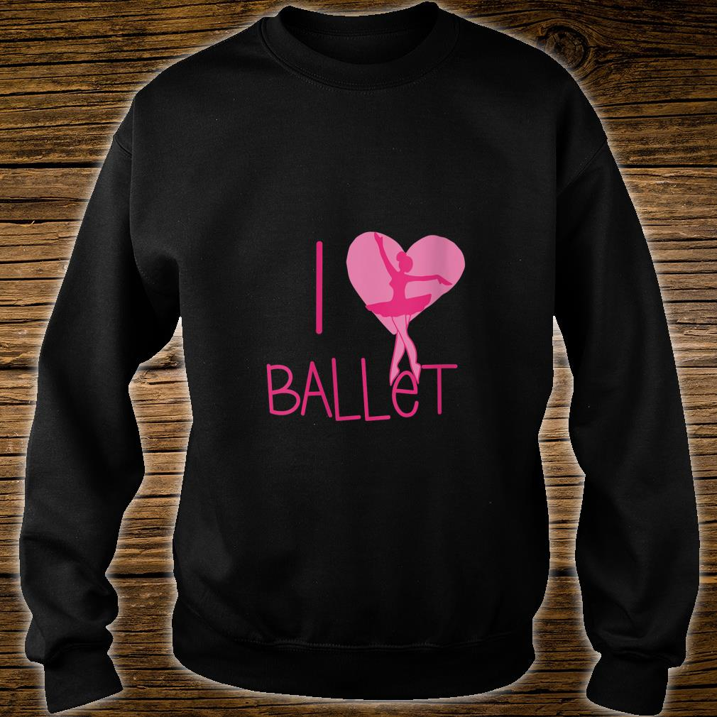 I love Ballet Shirt (4) sweater