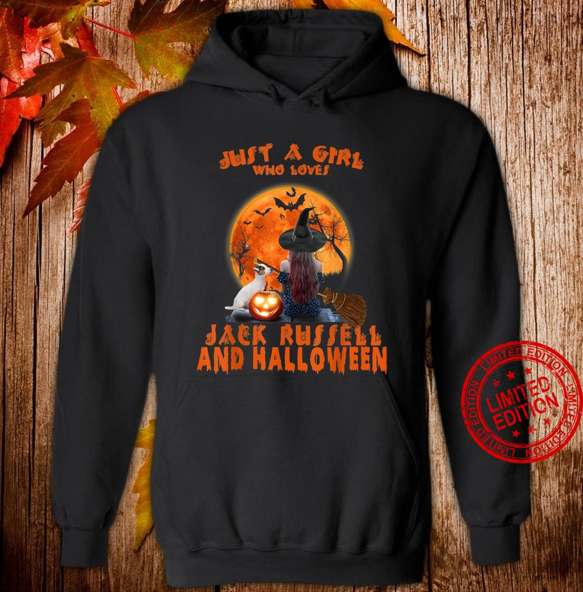 Just A Girl Who Loves Jack Russell Dog And Halloween Shirt hoodie