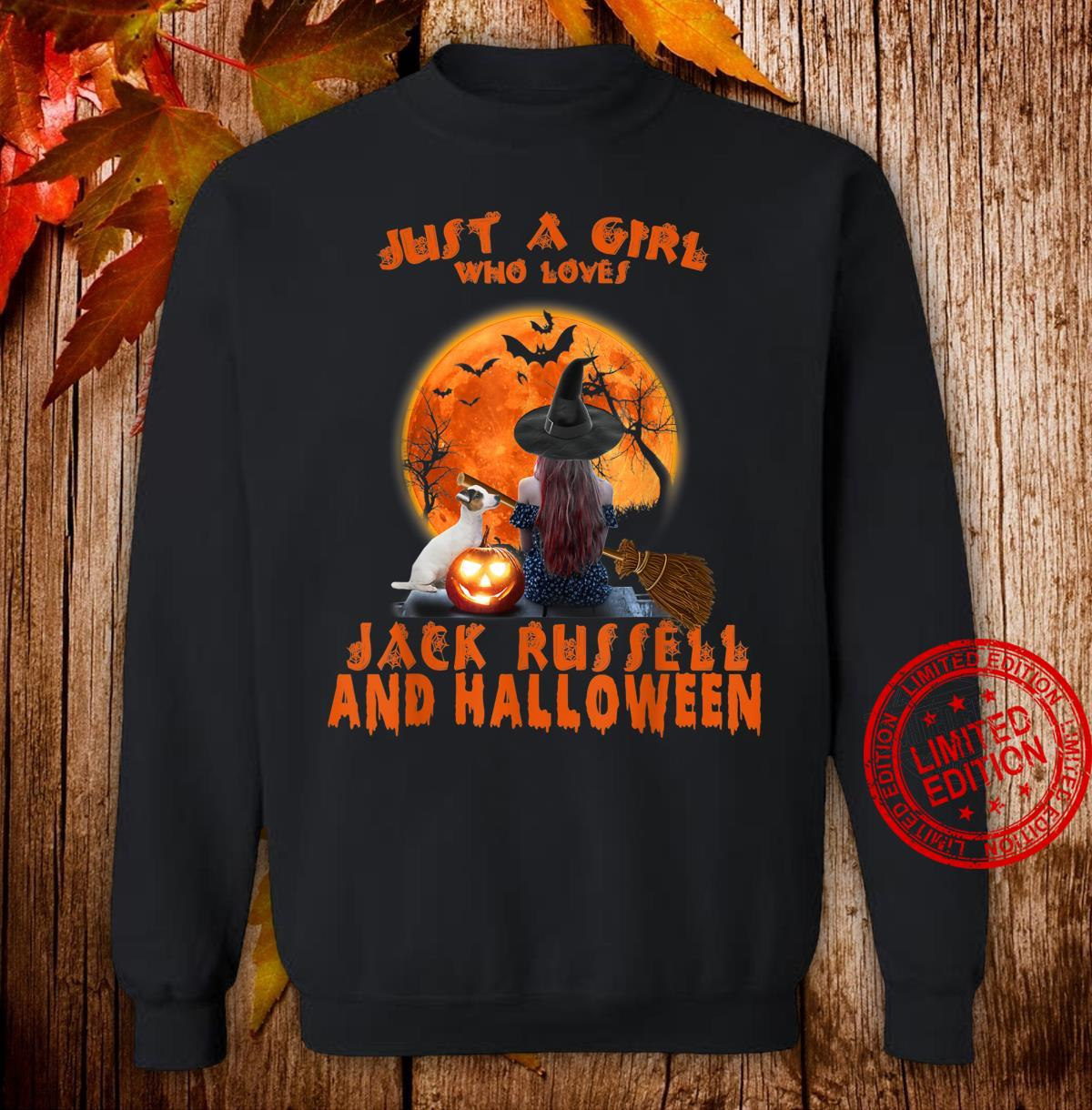 Just A Girl Who Loves Jack Russell Dog And Halloween Shirt sweater