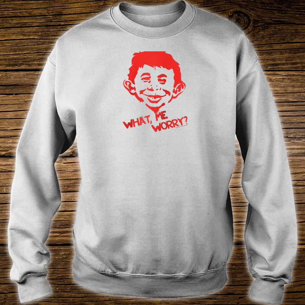 Mad Magazine What Me Worry Shirt sweater